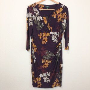 Lauren Ralph Lauren Floral Dress Size 16